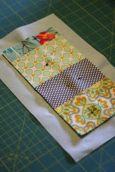 Super simple. Mug rug with cheater binding. knittybittiesews dot com More