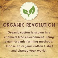 #Organic Revolution! Help change our world for the better.  #letlifeflow  #soulflowercontest