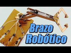 Brazo robótico con sistema hidráulico, cómo se hace - YouTube