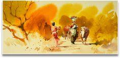 ::: Artist Abel ::: Watercolor Canvas, Watercolor Artists, Watercolor Portraits, Watercolor Landscape, Watercolor Paintings, Watercolors, Oil Paintings, Indian Art Paintings, Amazing Paintings