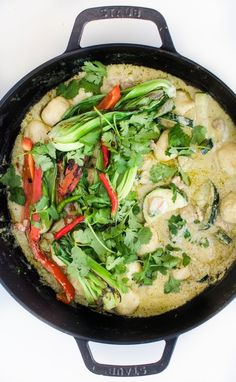 The easiest, quickest green curry: cook green curry paste with coconut milk, chicken, and seasonings.