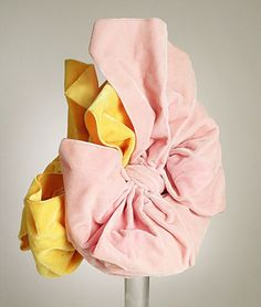 Vintage Elsa Schiaparelli hat, 1939 - her designs inspired the Capitol costumes in the Hunger Games movie