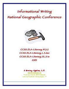 ELA Common Core Informational Writing National Geo Perform