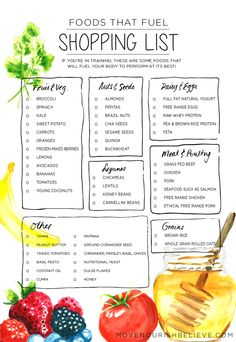 Foods That Fuel: The Nourish Station + A shopping list - Move Nourish Believe