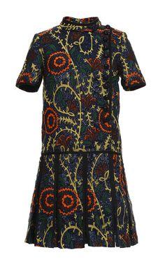 Floral Jacquard Drop Waist Dress by BURBERRY for Preorder on Moda Operandi