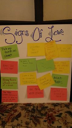 interactive prayer stations on love- I think you could also use this in a classroom. Couldn't be a prayer station, obviously, but maybe where you saw kindness that day...