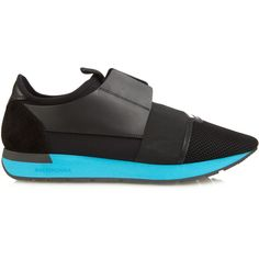 9f2796974519e Balenciaga Race Runners panelled low-top trainers ( 645) ❤ liked on  Polyvore featuring