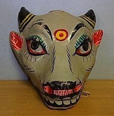Antique German Cardboard Mask Mardi Gras 1920´S 1 | eBay