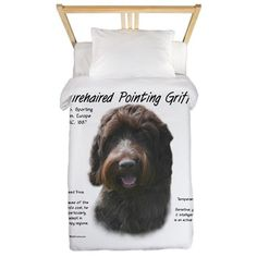 Wirehaired Pointing Griffon Twin Duvet Cover on CafePress.com