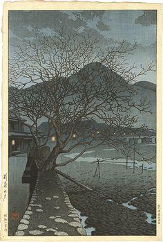 ギャラリーそうめい堂/Gallery Soumei-do > 新版画 Shinhanga > 川瀬 巴水 KAWASE Hasui > 別府の夕