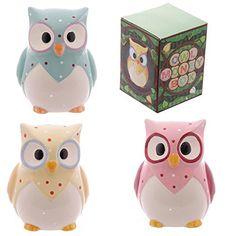 Ceramic Polka Dot Owl Money Box - Assorted Designs Sold S... https://www.amazon.co.uk/dp/B00AKR544U/ref=cm_sw_r_pi_dp_PblxxbKAN671Q