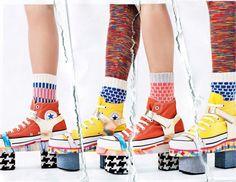 Designer Degen x Converse Collab 2013 Spring Clifton Platform Shoe Sz 7 or Sz 9 High Top Sneakers, Club Shoes, Nyc, Converse Chuck Taylor, Designer, Spring Summer, Wedges, Ebay, Best Deals