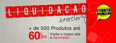 Liquidação Shoebiz com até 60% de Desconto pra você arrasar!