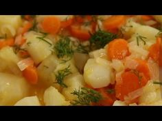 Zeytinyağlı Yer Elması Tarifi - YouTube Thai Red Curry, Risotto, Potato Salad, Good Food, Chicken, Meat, Ethnic Recipes, Youtube, Clam Chowder