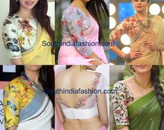Floral blouses make every saree look pretty. Floral blouse designs are the perfect addition to plain sarees Simple Blouse Designs, Stylish Blouse Design, Floral Print Sarees, Floral Blouse, Saree Blouse Patterns, Saree Blouse Designs, Simple Sarees, Plain Saree, Fancy Sarees