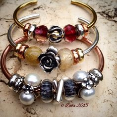 Mixed Metal Bangles From A Collector On Trollbeads Gallery Forum Join Us For Inspiration