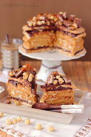 Cookcakes de Ainhoa: DACQUOISE DE AVELLANAS Recipe translates to english. Hazelnut meringue layers with two different fillings.
