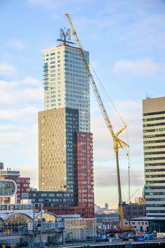 Liebherr - LTM 11200-9.1 mobile crane in Rotterdam, Netherlands.