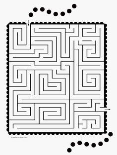 A medium difficulty maze from Puzzles to Print. Has a scalloped edge and some bouncing balls for eye appeal. Math Activities For Kids, Puzzles For Kids, Mazes For Kids Printable, Free Printables, Maze Worksheet, Word Puzzles, Brain Games, School Colors, Brain Teasers