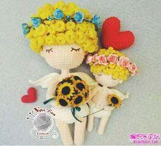 Chart móc thiên sứ tình yêu dễ thương Easy Crochet Patterns, Free Crochet, Crochet Projects, Charts, Hello Kitty, Pokemon, Miniatures, Dolls, Christmas Ornaments