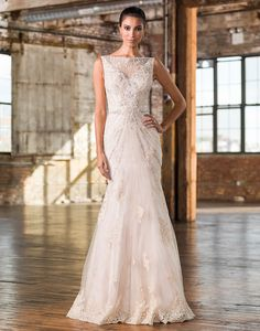 Justin Alexander signature wedding dresses style 9825 A geometric beaded pattern adorns this Signature fit and flare gown with a Sabrina neckline, natural waistline, and chapel length train with hem lace. Affordable Wedding Dresses, Wedding Dresses For Sale, Wedding Dress Styles, Bridal Gowns, Wedding Gowns, Wedding 2017, Justin Alexander Bridal, Sophisticated Bride, Culture