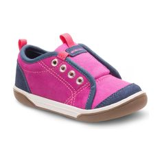 She will be accomplishing her walk play confidence in the Stride Rite Taasi sneaker. Memory-foam cushioned footbed, Rubber outsole, Suede and textile upper Kid Shoes, Baby Shoes, Shoes Sneakers, Baby Kids, Toddler Girls, Magenta, Cool Things To Buy, Infant, Navy