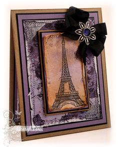 Ink Up: TMS #150: Eiffel Tower Birthday Card--Vintage Style