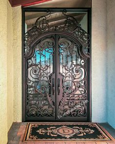 😇😇😇 Have you ever considered buying a double-entry gate for your home? Then you have come to the right place! -- ☎️☎️☎️ Call 877-205-9418 for Orders and Inquiries ⚠️⚠️⚠️ About this Beautiful IRON DOOR: Hover Custom Iron Door w/Transom. -- #wroughtirondoor #universalirondoors #ironfrontdoor #irondoorsnearme #irondoorcompany #cheapirondoor #modernirondoors #entrydoors #bifolddoors #slidingdoor #steeldoors #pivotdoors #frenchdoors #freeconsultation #glassgaragedoor #homeimprovement Pivot Doors, Sliding Doors, Entry Gates, Entry Doors, Iron Front Door, Glass Garage Door, Wrought Iron Doors, Steel Doors