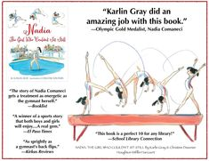 Karlin Gray - NADIA: THE GIRL WHO COULDN'T SIT STILL Nadia Comaneci, The Girl Who, Book Lists, Be Still, Gymnastics, Documentaries, Author, Gray, Books