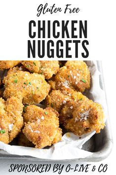 I am so excited to share my recipe for Southern style gluten free chicken nuggets made in the oven using O-Live & Co Everyday olive oil. #sponsored #glutenfreechickennuggets #chickennuggets Gluten Free Recipes For Dinner, Dinner Recipes, Gluten Free Bread Crumbs, Free Chickens, Meat Recipes, Yummy Recipes, Chicken Recipes, Gluten Free Chicken, Chicken Nuggets