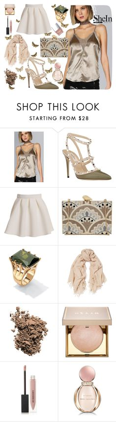 """""""Untitled #391"""" by kat-van-d ❤ liked on Polyvore featuring Valentino, KOTUR, Palm Beach Jewelry, Chan Luu, Dolce&Gabbana, Stila, Burberry, Bulgari, Butter London and Sheinside"""
