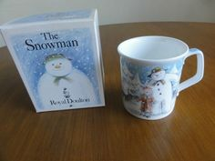 Royal Doulton The Snowman China Coffee Cup Mug Beaker 1985 Boxed Into the Forest