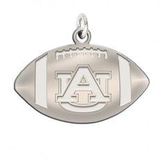 Auburn Tigers Silver Football Charms