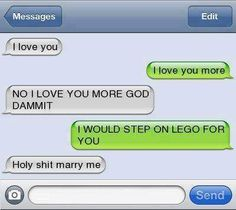 Epic text - I love you - Funny Texts Funny Texts Jokes, Text Jokes, Funny Text Fails, Epic Texts, Stupid Funny Memes, Funny Laugh, Funny Relatable Memes, Hilarious, Cute Text Messages