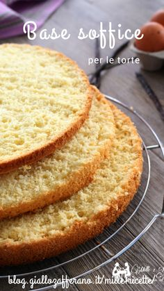 Italian Recipes The best base for cakes, very soft and ideal for cakes Sweet Recipes, Cake Recipes, Glaze For Cake, Pie Dessert, Sweet Cakes, Sweet Bread, Cheesecake, No Bake Cake, Italian Recipes