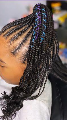 Black Little Girl Hairstyles, Black Girl Braided Hairstyles, French Braid Hairstyles, Baby Girl Hairstyles, African Braids Hairstyles, Little Girl Braids, Black Girl Braids, Braids For Black Women, Braids For Black Hair