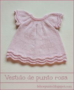 Vestido de punto en algodón rosa
