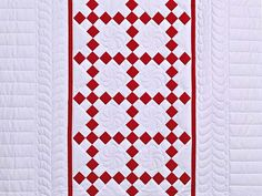 Clever nine-patch quilt pattern