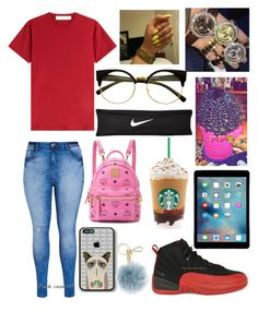 """#bored"" by kaycameron ❤ liked on Polyvore featuring City Chic, dVb Victoria Beckham, MCM, Michael Kors and NIKE"