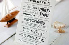 Oh So Beautiful Paper: James + Arija's Modern Seaside Wedding Invitations