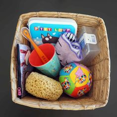 Le panier à trésors Montessori,dès 6 mois.