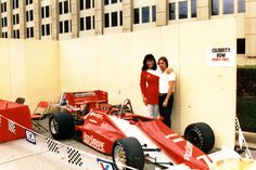 American Racing Series. As sponsorship director and partner in this team it was a wonderful experience. Kim Campbell standing with me in this photo was the driver.