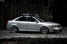 2005 Audi S4. H&R/Koni suspension and Thule rack.