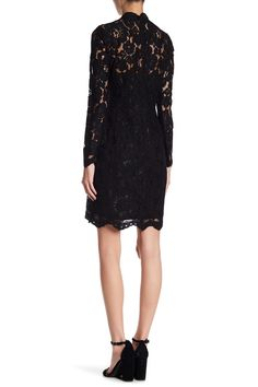 Scalloped Crochet Lace Sheath Dress by Betsey Johnson on @nordstrom_rack