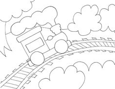 Children today have many toy options. But, have you ever wondered what the perfect toy for your little one might be? Train Coloring Pages, Free Printable Coloring Pages, Drawing For Kids, Art For Kids, Train Drawing, Quiet Book Templates, Felted Wool Crafts, Train Party, Craft Patterns