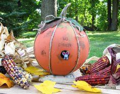 How to make a bowling ball pumpkin!