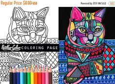50% OFF Storewide- cat coloring, coloring book, adult coloring book, coloring pages, adult coloring pages, coloring book for adults