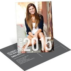 College Graduation Announcements -- Big Year Vertical Postcard | Pear Tree Greetings