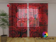 Stores Fotogardinen Vorhang In Luxus Fotodruck 3D. Maßanfertigung.