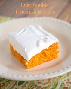 Diet Sunkist Creamsicle Cake | Plain Chicken